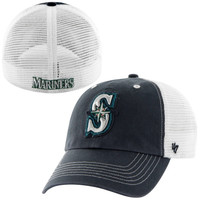 Seattle Mariners '47 Brand Blue Mountain Flex Hat – White