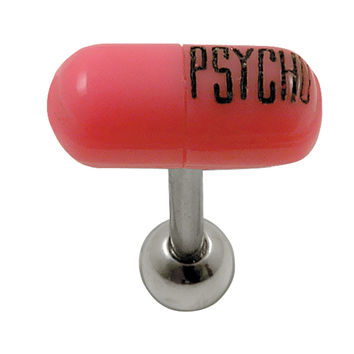 14G 5/8 Psycho Pill Surgical Barbell