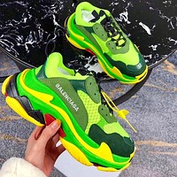 Onewel Balenciaga daddy shoes, retro retro color matching, couple casual shoes, high-end platform sneakers