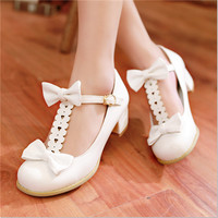 Sweet bow lolita shoes