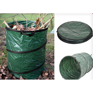 Jumbo Size 16L COLLAPSIBLE  Garden Leaves Basket Trash Garbage Rubbish Bags  Container Can