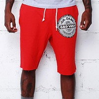 Dr. Dabs Terry Shorts Red