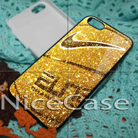 Nike Basketball Ball Gold Glitter Sparkle for iPhone 4 / 4S / 5 / 5c / 5s Case Samsung Galaxy S3 / S4 Case Cover
