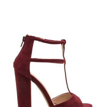 All Night Long Chunky Caged Heels