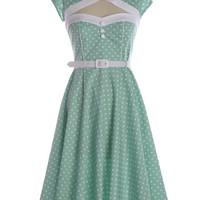 NEW: The Drive-In Dress in Green - $74.95 : Indie, Retro, Party, Vintage, Plus Size, Convertible, Cocktail Dresses in Canada