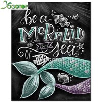 5D Diamond Painting Be a Mermaid Chalk Board Kit