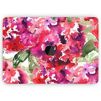 """Tropical Hydrangea Flowers - Skin Decal Wrap Kit Compatible with the Apple MacBook Pro, Pro with Touch Bar or Air (11"""", 12"""", 13"""", 15"""" & 16"""" - All Versions Available)"""