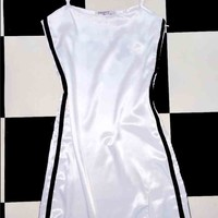 SWEET LORD O'MIGHTY! SILK KITTEN DRESS IN WHITE
