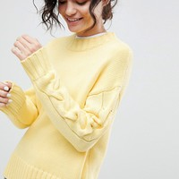 2NDDAY Cable Sleeve Jumper at asos.com
