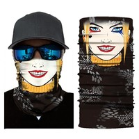 HEROBIKER Motorcycle Mask Balaclava Unisex Skull Cycling Costume Bandanas UV Protection Ski Mask Ghost Face Shield Mascara Moto