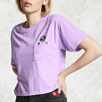 Boxy Alien Patch Pocket Tee