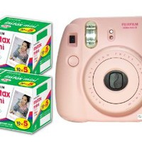 New Model Fuji Instax 8 Color Pink Fujifilm Instax Mini 8 Instant Camera + 50 Films