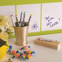 Wallies Peel and Stick Dry Erase Decal, Squares