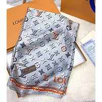 """Hot Sale """"Louis Vuitton"""" Fashionable Women LV Smooth Silk Cashmere Cape Scarf Scarves Shawl Accessories"""