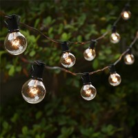 String Lights with 25 G40 Globe Bulbs