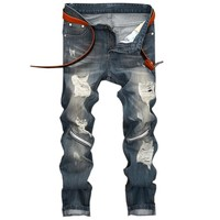 2018 Fashion Brand Designer Mens Torn Jeans
