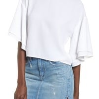 Leith Double Ruffle Sleeve Top | Nordstrom