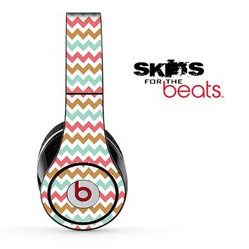 Subtle Colorful V4 Chevron Pattern Skin for the Beats by Dre Solo, Studio, Wireless, Pro or Mixr