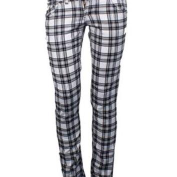 Jist Black & White Checked Skinny Jeans
