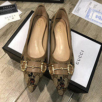 Gucci new pointed Mickey Mouse shoes-2