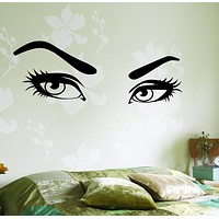 Wall Vinyl Decal Hot Sexy Eyes Romantic Decor For Bedroom Unique Gift z3750
