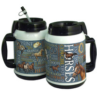 American Expedition 64oz Tall Tumbler - Horses Word Design