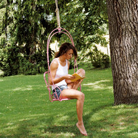 Steel garden swing seat 1900 Collection by FERMOB