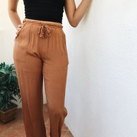 ABIGAIL FLOW PANTS- MOCHA