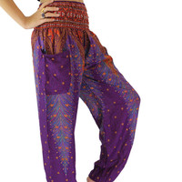Boho Harem Pants/ Hippie Pants one size fits purple