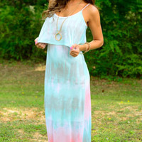 Love Love Tie Dye Maxi, Sea Foam