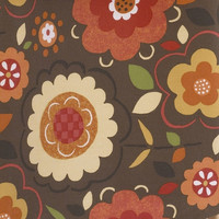 PEGGY SUE BROWN BACKGROUND WITH FLOWER PRINT FABRIC