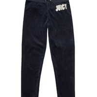 Logo Velour Juicy Couture Slim Pant by Juicy Couture