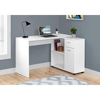 "Cabinet - 29.5"" Particle Board and Laminate Computer Desk with a Storage Cabinet"