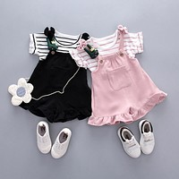 Infant Baby Girl Striped Outfits Cool Sets