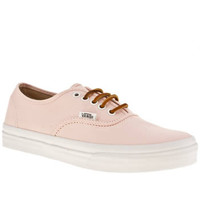 Women's Pale Pink Vans Authentic Slim Twill at schuh