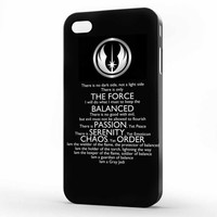 Star Wars Gray Jedi Code iPhone 4 | 4s Case, 3d printed IPhone case
