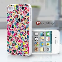 iphone 4 cases iphone 4s case iphone 4 cover classic colorized pink blue pattern design