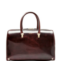 Thom Browne Large Leather Doctor Bag Oxblood