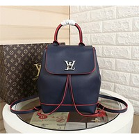 LV Louis Vuitton LEATHER LOCKME BACKPACK BAG