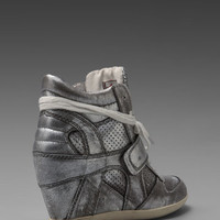 Ash Bowie Ter Wedge Sneaker in Silver from REVOLVEclothing.com