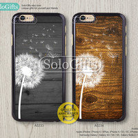 iPhone 6 case, iPhone 6 Plus case, Dandelion on wood, iPhone case, iPhone 5 case, iPhone 5S Case, Galaxy S5 S4 S3 Note 2 Note 3, A0233