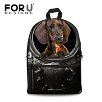 Cool Backpack school FORUDESIGNS Men's 3D Pizza Animal Dog Print Backpacks Teenager Trendy Black Bagpack Boys Cool Tourism Package for Travel Mochila AT_52_3