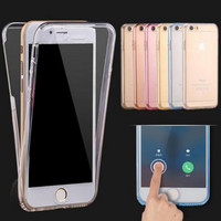 Ultrathin Clear Transparent TPU Silicone Flexible Soft Cover Case For Apple iPhone 6 6s / Plus / 5S SE Full Protect Phone Case