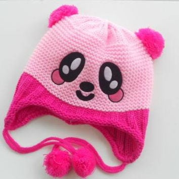 Choice of Animal Face Knit Winter Hat. Choice of colors.