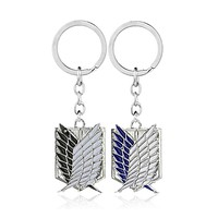 Attack On Titan Anime Keychain Giant Legion Flag Cosplay Jewelry Key Ring Gift