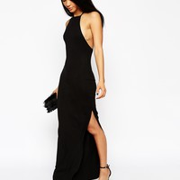 ASOS PETITE High Neck Strappy Back Maxi Dress