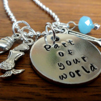 Disney necklace-part of your world-Disney's Little Mermaid-Ariel necklace-The little mermaid necklace-mermaid-dinglehopper-Free Shipping!