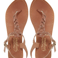 New Look Gladice Tan Woven Leather Flat Sandals
