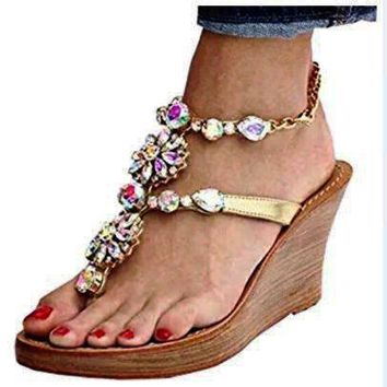 Fashion high-heeled buckle drill-heeled sandals cross-border sandals