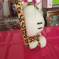 3D Hello Kitty Leopard Dress iPhone 4/4s Case